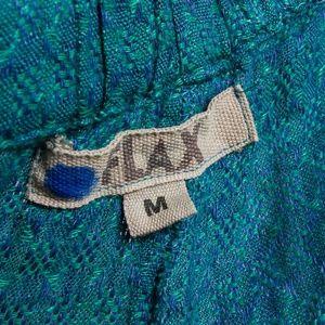 Flax Pants - Flax pants M emerald green linen Summer lagenlook